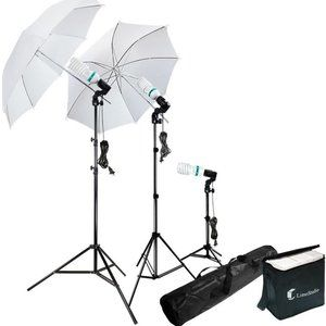 LimoStudio Photography Lighting Kit with Umbrellas